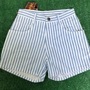 New Striped Vintage High Waisted Shorts